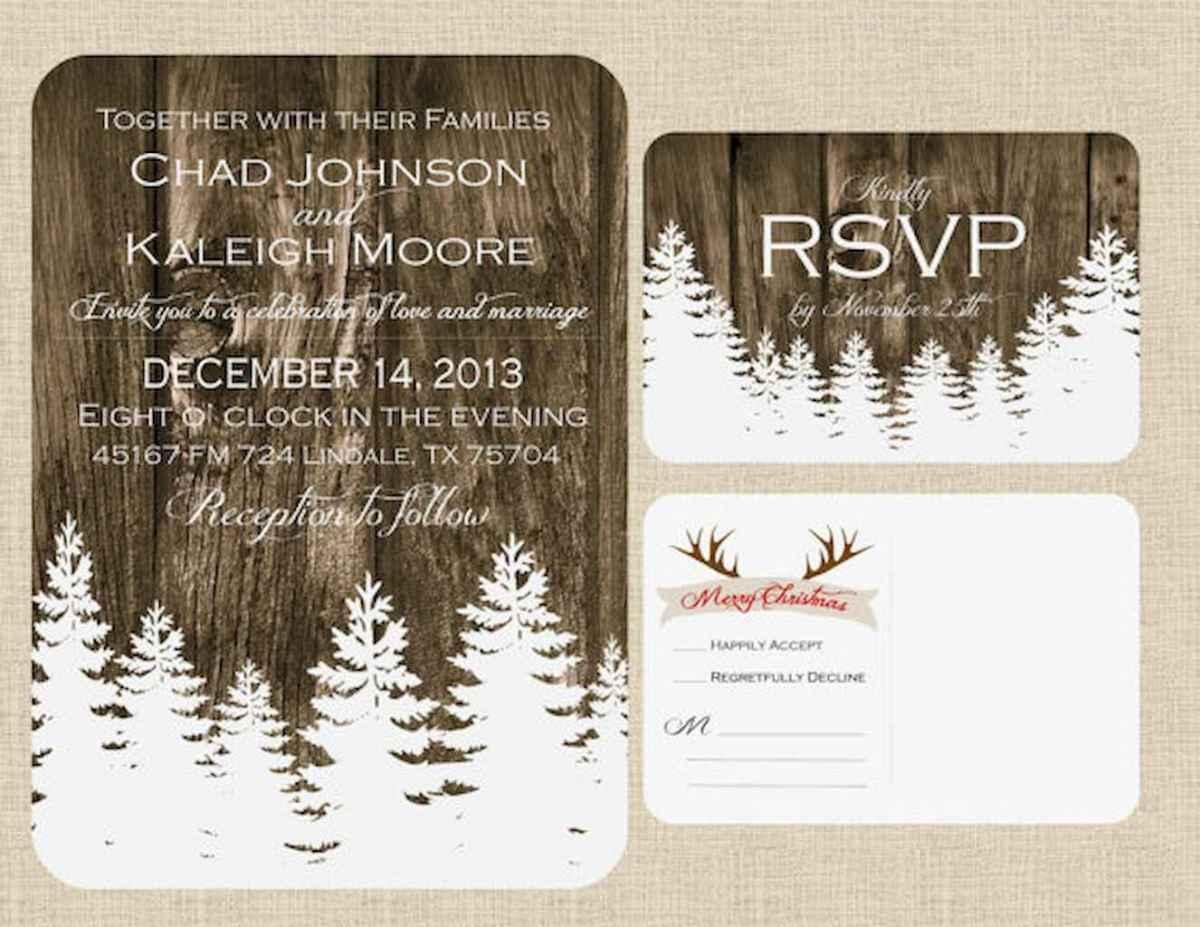 18 Elegant Christmas Wedding Invitations Ideas