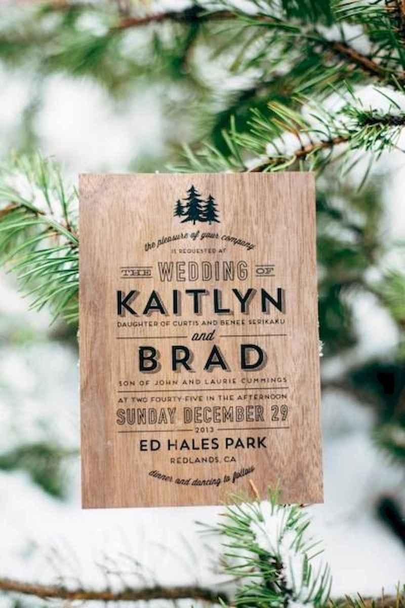 20 Elegant Christmas Wedding Invitations Ideas