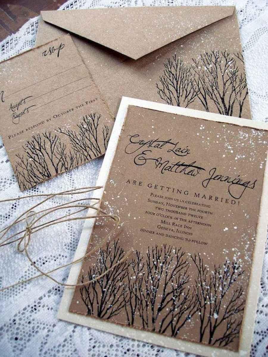 22 Elegant Christmas Wedding Invitations Ideas