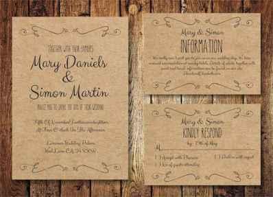 23 Simple Inexpensive Wedding Invitations Ideas