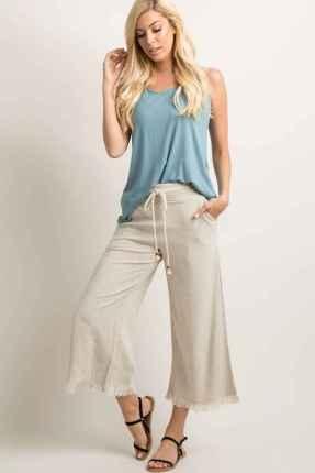 26 Elegant Beige Linen Pants Outfit Ideas