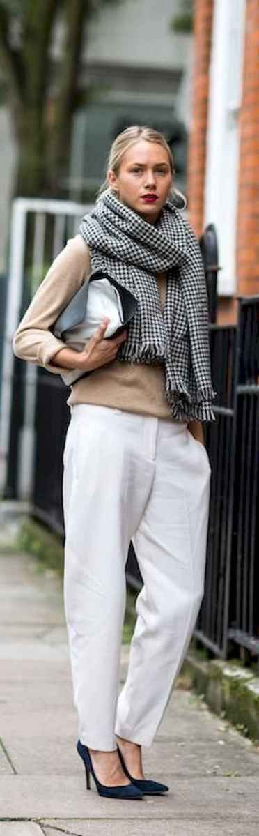 29 Summer White Linen Pants Outfit for Women