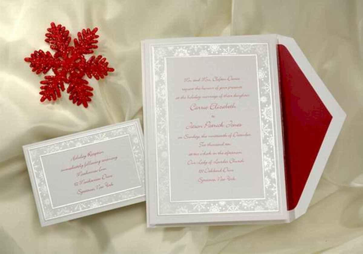 30 Elegant Christmas Wedding Invitations Ideas