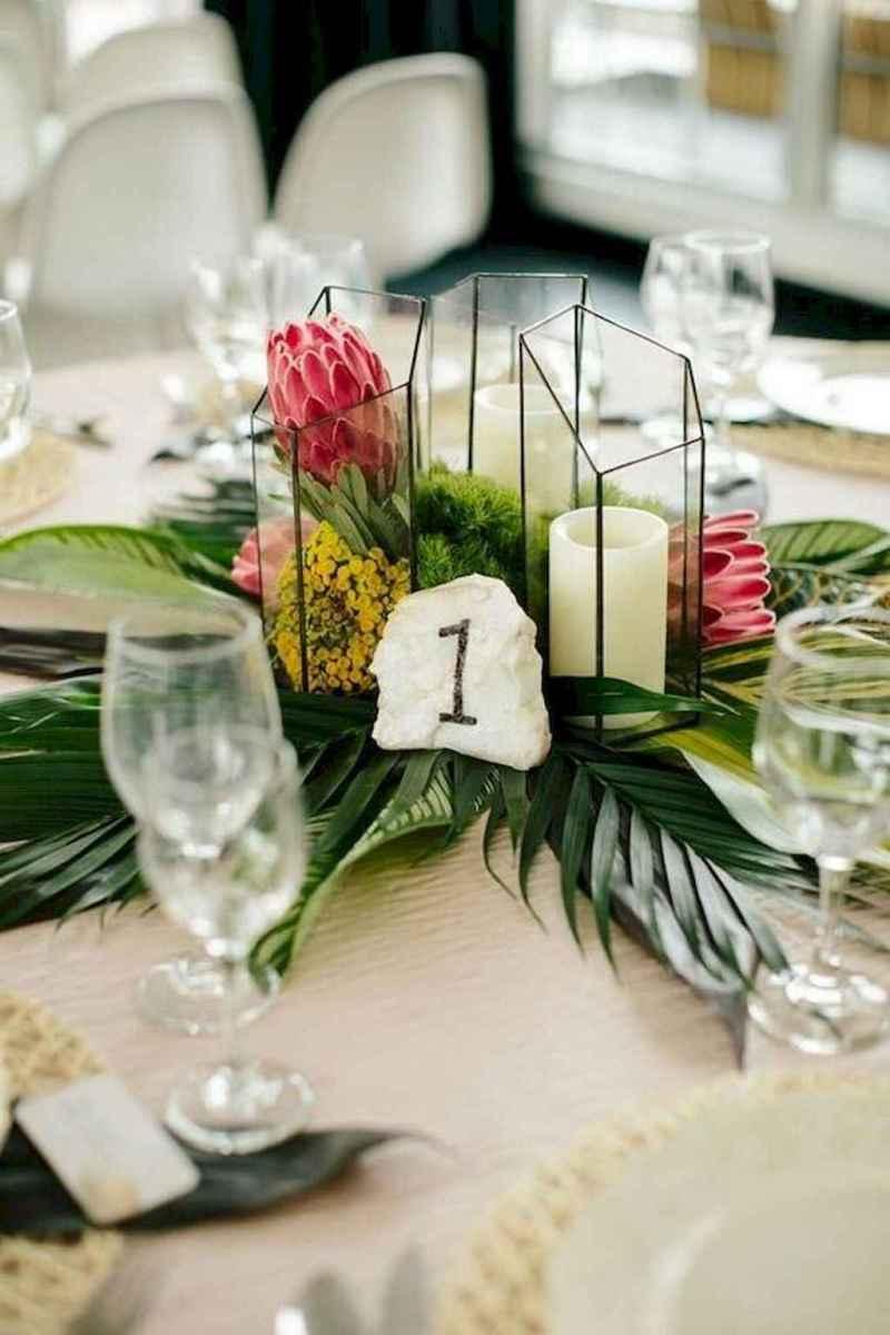 31 Romantic Tropical Wedding Ideas Reception Centerpiece