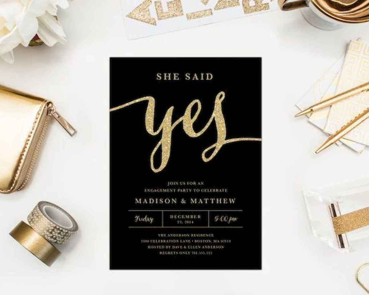 34 Inexpensive Engagement Party Invitations Ideas