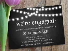 35 Inexpensive Engagement Party Invitations Ideas