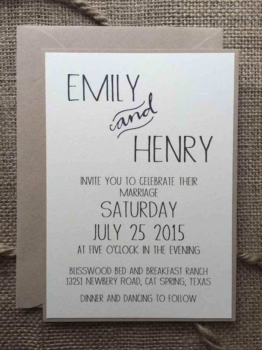35 Simple Inexpensive Wedding Invitations Ideas