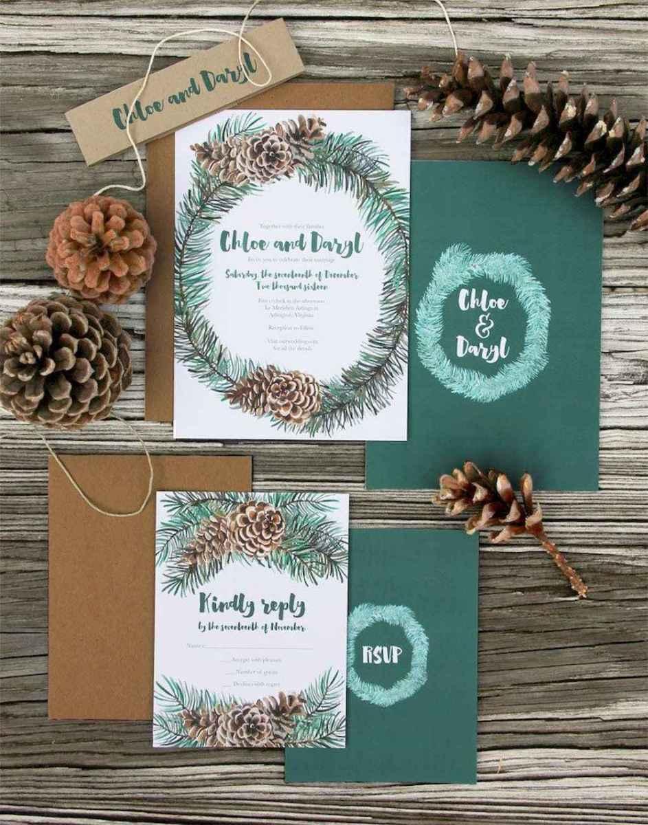 37 Elegant Christmas Wedding Invitations Ideas