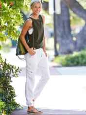38 Summer White Linen Pants Outfit for Women