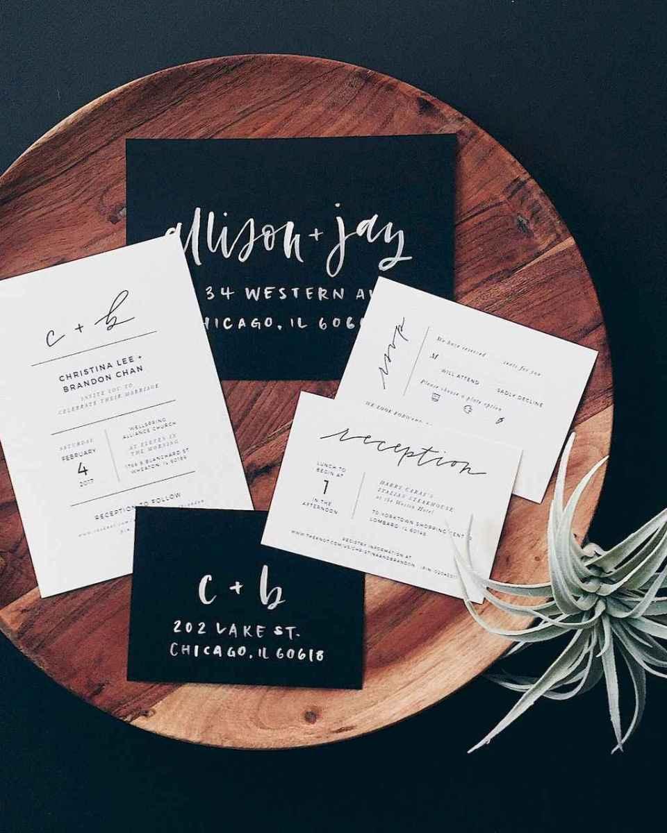 42 Simple Inexpensive Wedding Invitations Ideas