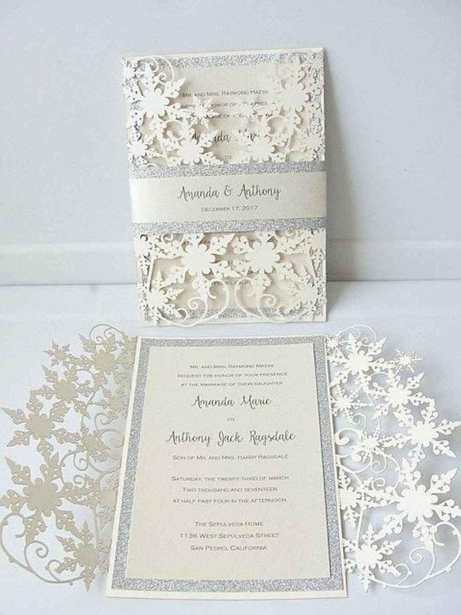 43 Elegant Christmas Wedding Invitations Ideas