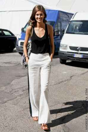 43 Summer White Linen Pants Outfit for Women