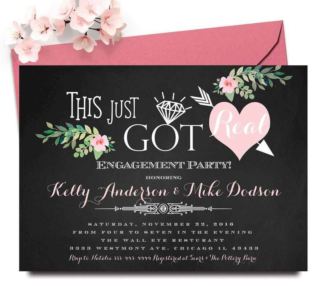 44 Inexpensive Engagement Party Invitations Ideas