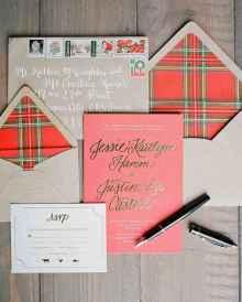 45 Elegant Christmas Wedding Invitations Ideas