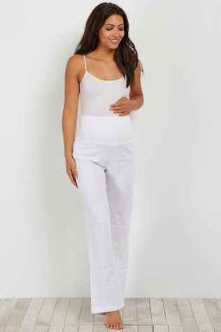 47 Summer White Linen Pants Outfit for Women