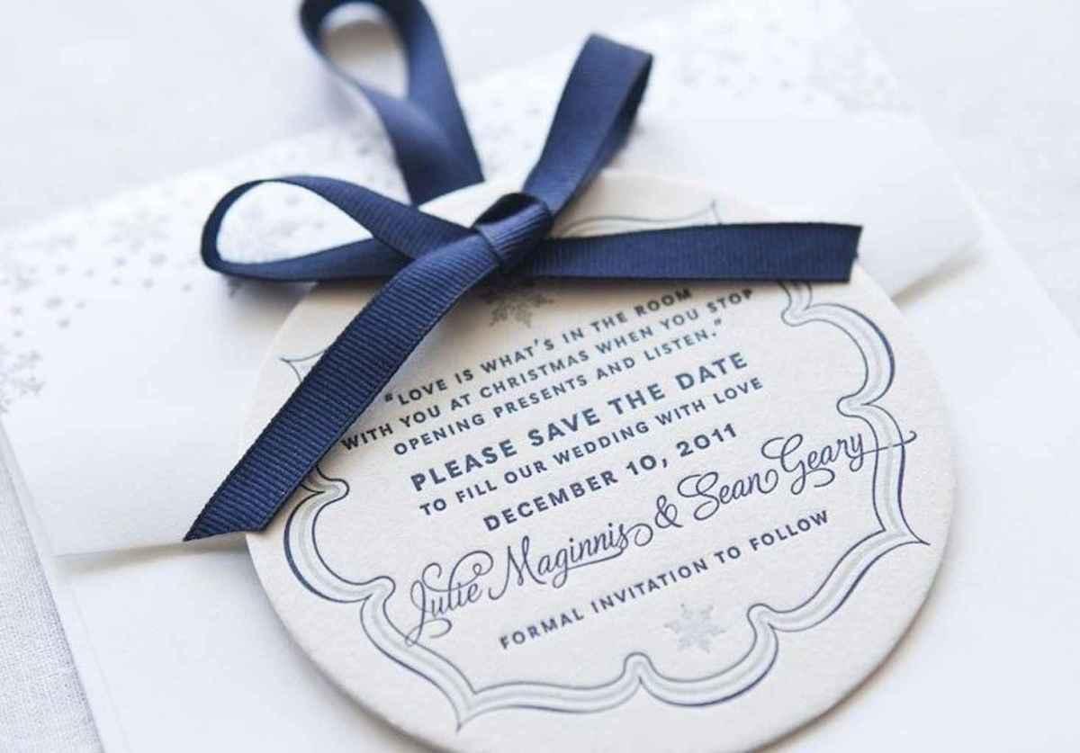 54 Elegant Christmas Wedding Invitations Ideas