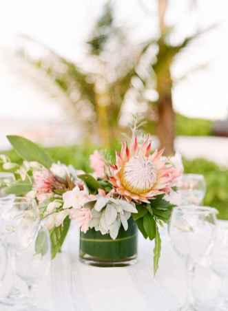 58 Romantic Tropical Wedding Ideas Reception Centerpiece