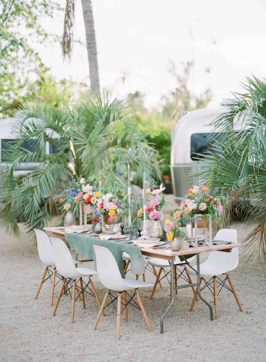 60 Romantic Tropical Wedding Ideas Reception Centerpiece