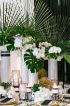 61 Romantic Tropical Wedding Ideas Reception Centerpiece