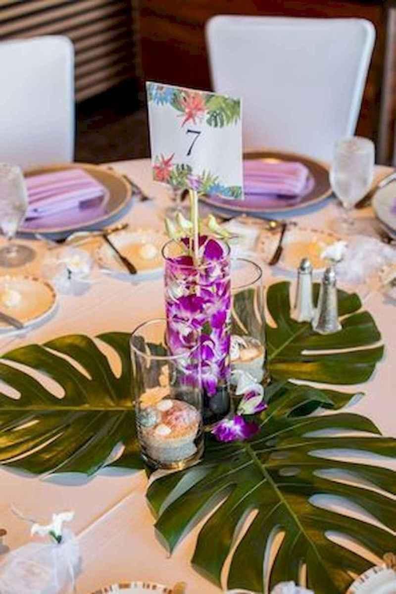 65 Romantic Tropical Wedding Ideas Reception Centerpiece