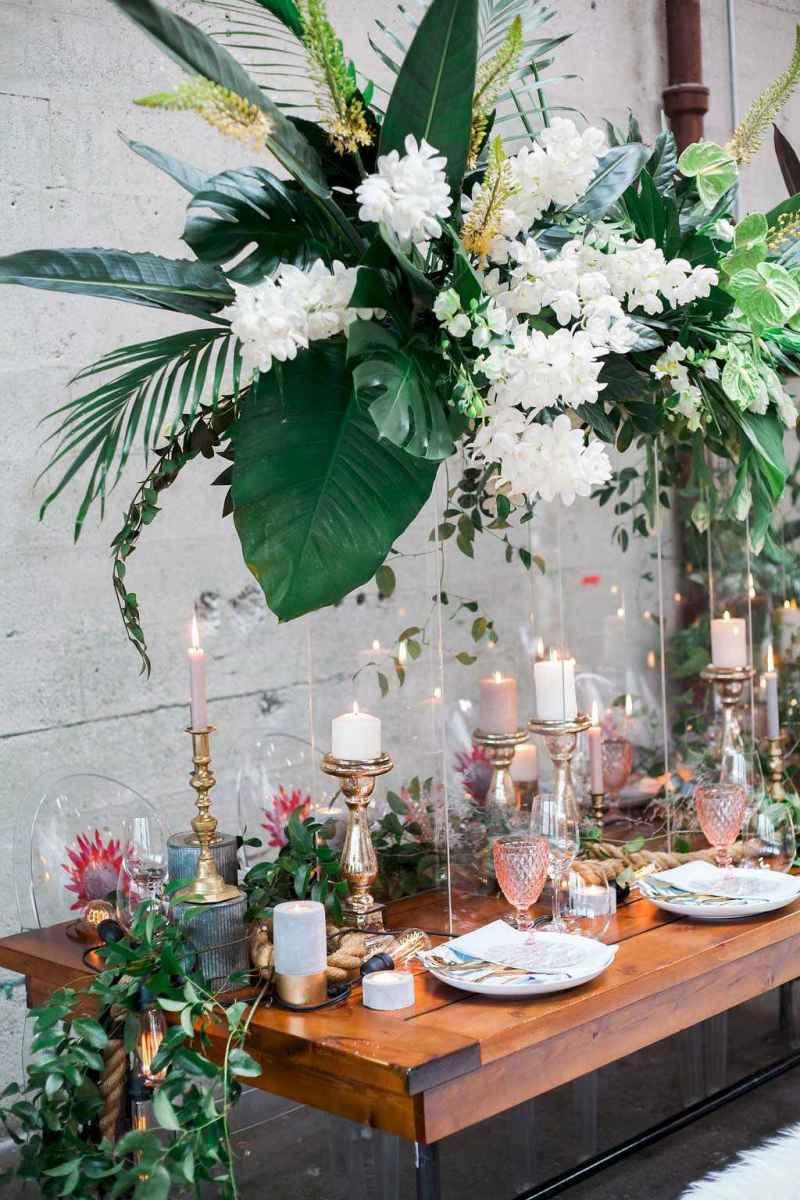 67 Romantic Tropical Wedding Ideas Reception Centerpiece