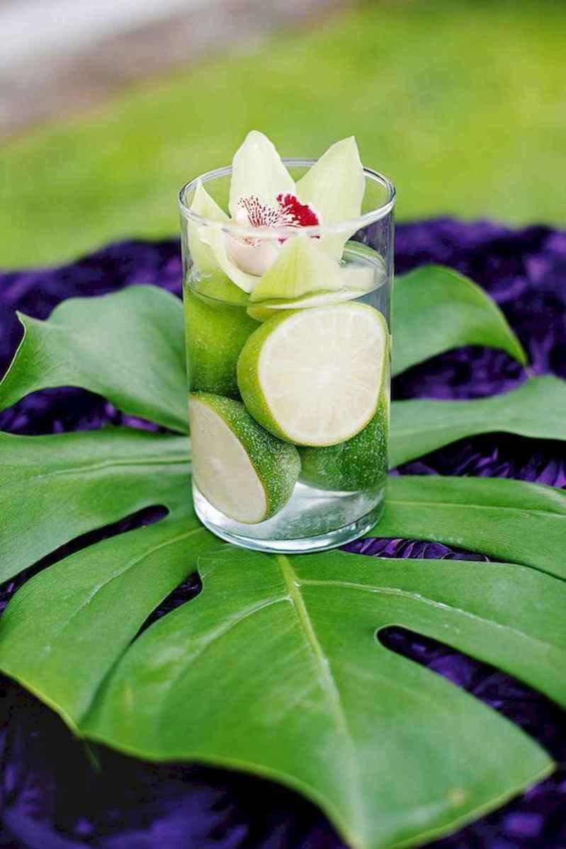 68 Romantic Tropical Wedding Ideas Reception Centerpiece
