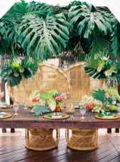 69 Romantic Tropical Wedding Ideas Reception Centerpiece