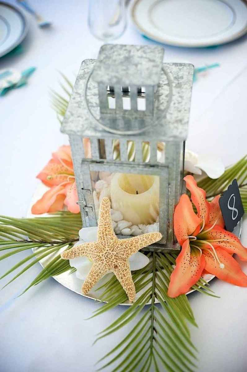 71 Romantic Tropical Wedding Ideas Reception Centerpiece