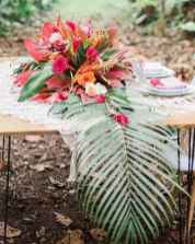 75 Romantic Tropical Wedding Ideas Reception Centerpiece