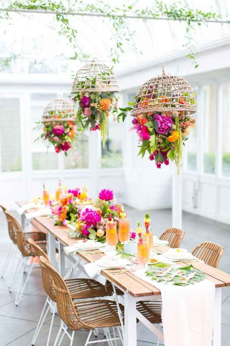77 Romantic Tropical Wedding Ideas Reception Centerpiece