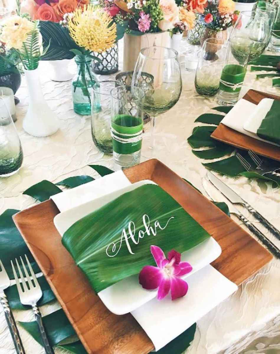 81 Romantic Tropical Wedding Ideas Reception Centerpiece
