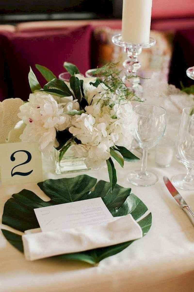 82 Romantic Tropical Wedding Ideas Reception Centerpiece