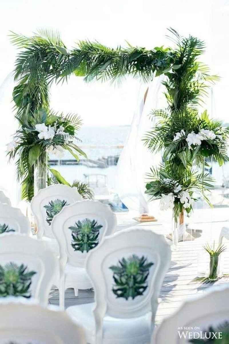 87 Romantic Tropical Wedding Ideas Reception Centerpiece