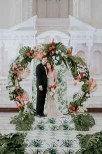 91 Romantic Tropical Wedding Ideas Reception Centerpiece