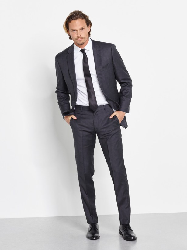 Charcoal Suit for a groom