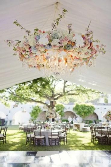 Hanging Flowers Wedding Decor