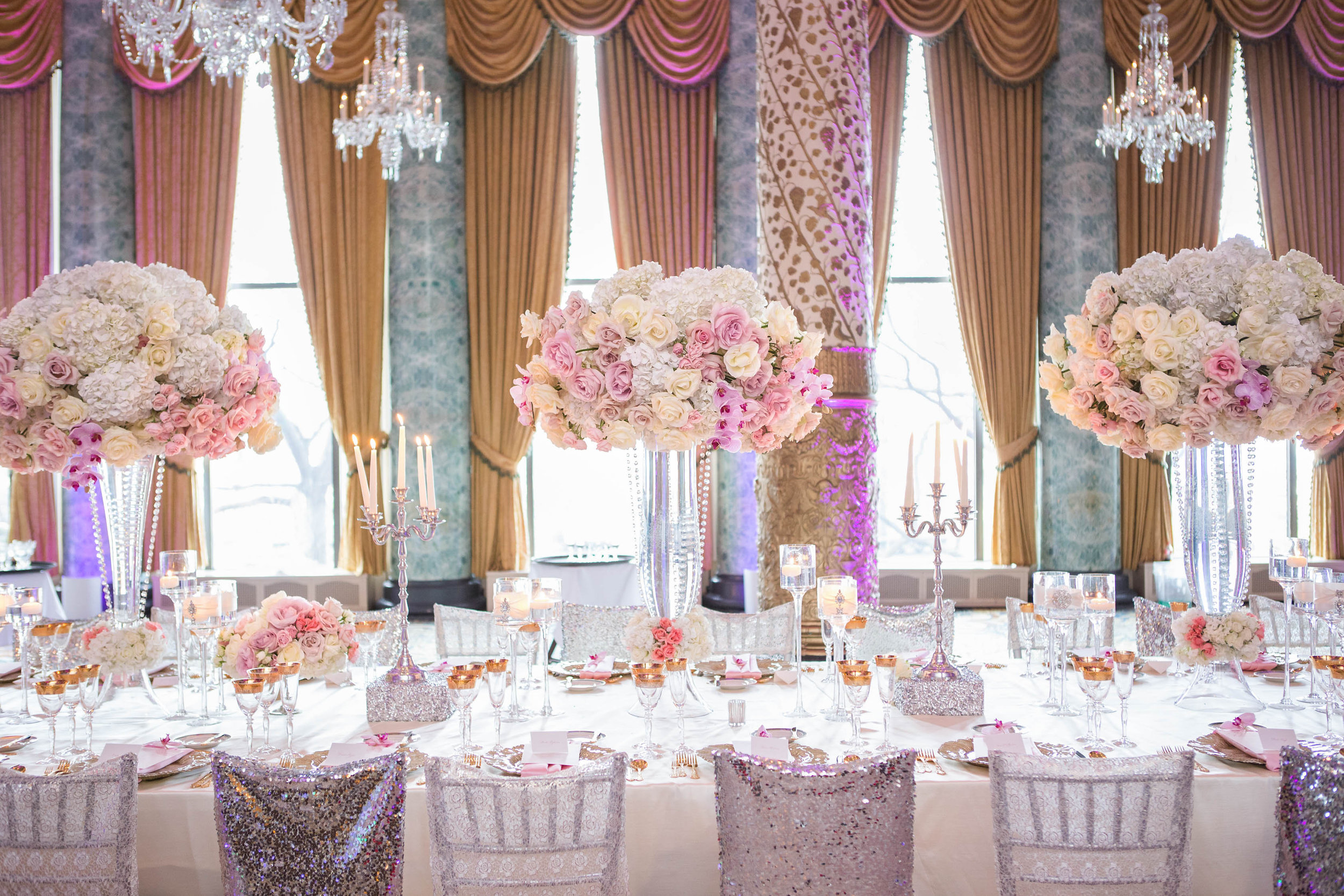 Wedding Ideas : Long Reception Tables