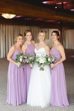 Lilac mismatched long bridesmaid dresses - Photography: Rochelle Louise