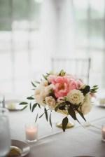 Low blush wedding centerpiece- Dani Leigh Photography