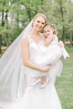 Bride and flower girl photo - Photography: Lauren Westra