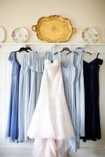 blue bridesmaid dresses - Luke & Ashley Photography