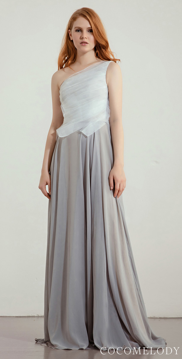 """Arquitectural Bridesmaid Dress Trends by Cocomelody 2020 - ARIA """"width ="""" 615 """"height ="""" 1210 """"data-pin-description ="""" Arquitectural Bridesmaid Dress Trends by Cocomelody 2020 - ARIA 