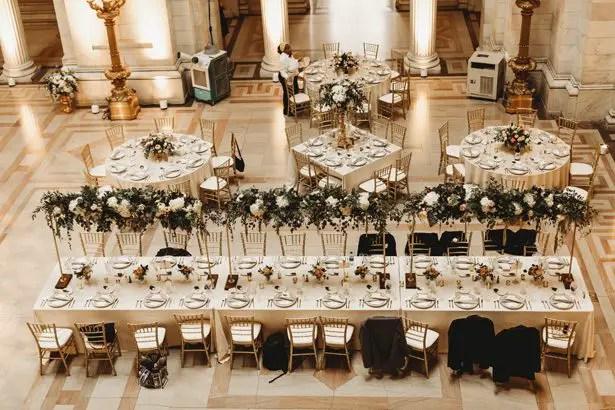 Ballroom wedding reception decor - Man and Wife Photography