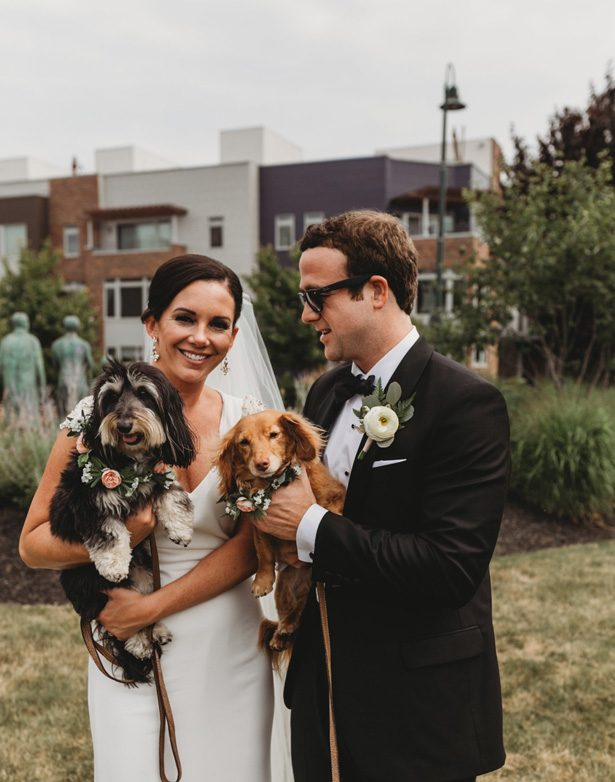 Wedding picture with dogs - Man and Wife Photography