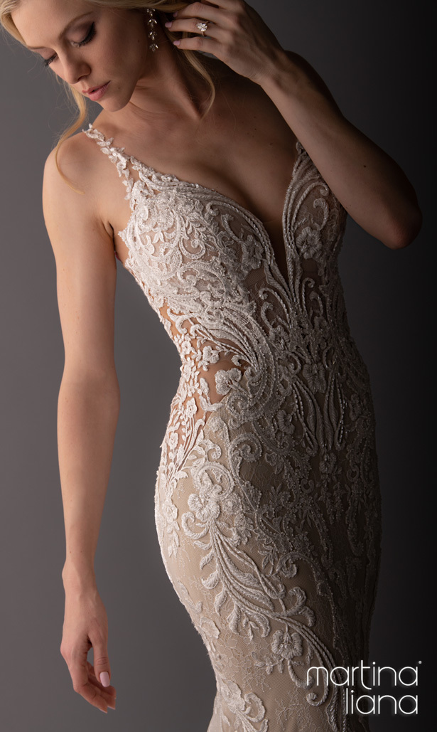 """Martina Liana's Spring 2020 Wedding Dresses - 1111 """"width ="""" 615 """"height ="""" 1029 """"data-pin-description ="""" Make a Statement with Martina Liana's Latest Collection: """"A Statement of Love"""" 