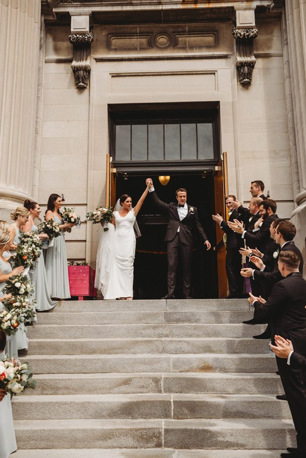 Wedding ceremony exit - Man and Wife Photography