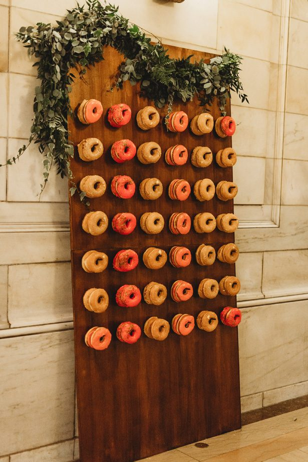 Wedding Donut wall - Man and Wife Photography
