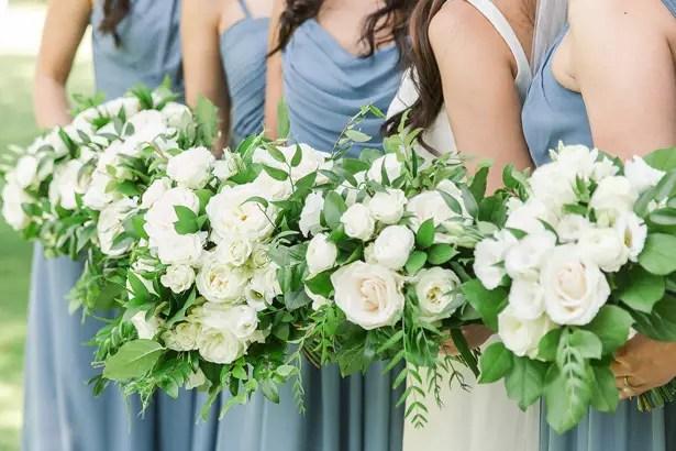 boho bridal party bouquets - Theresa Bridget Photography