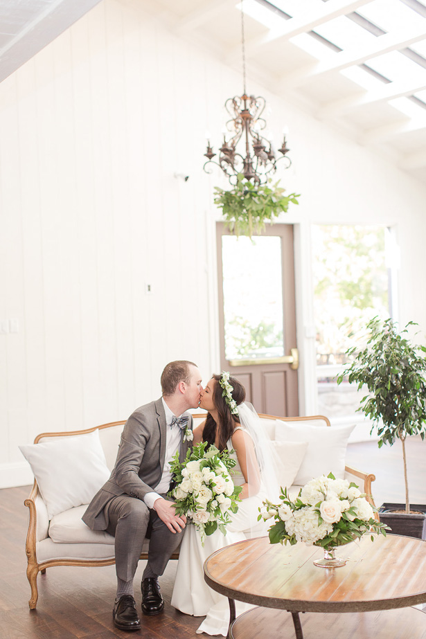 boho wedding kiss - Theresa Bridget Photography