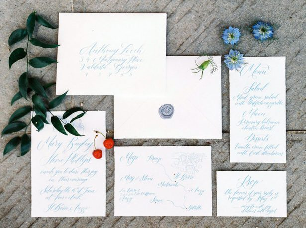Luxury Tuscan Wedding Invitations - Photography: The cablookfotolab